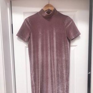 Madewell Velvet Dress - Dusty Rose XS